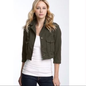 James Perse Military Green Cropped Jacket